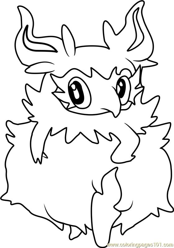 Aromatisse Pokemon Coloring Page