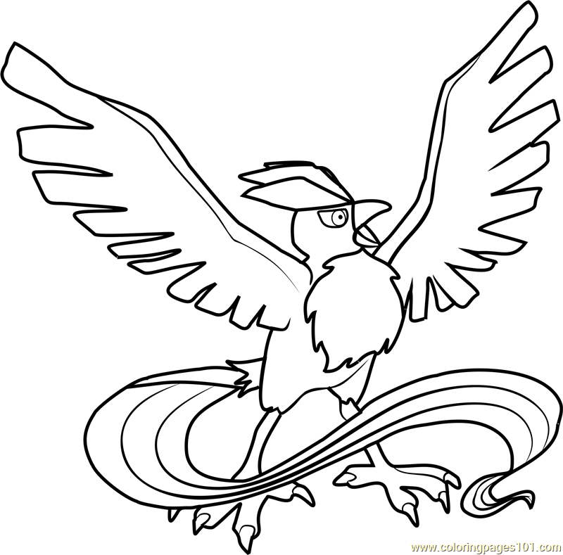 Articuno Pokemon Coloring Page Free Pokmon Coloring Pages