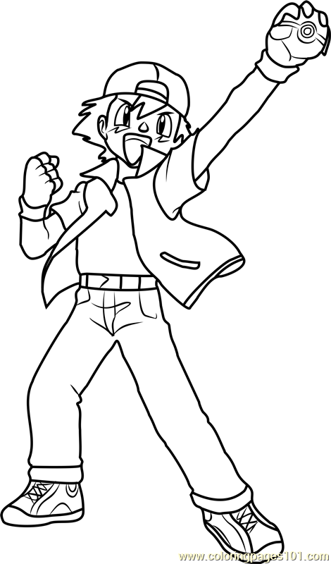 Ash Ketchum Pokemon Coloring Page