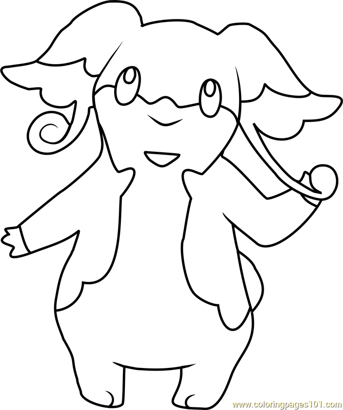 audino pokemon coloring page