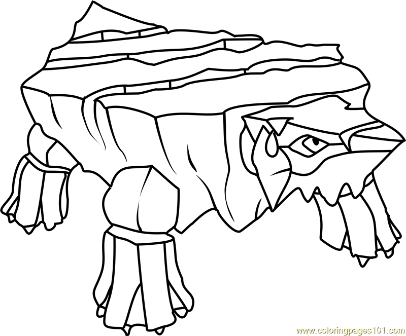 Avalugg Pokemon Coloring Page Free Pok 233 Mon Coloring