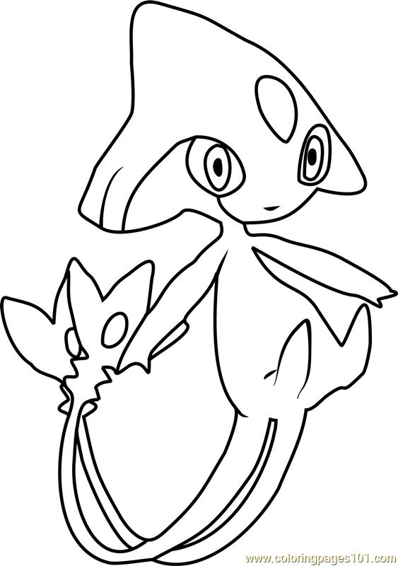 Azelf Pokemon Coloring Page Free Pok 233 Mon Coloring Pages
