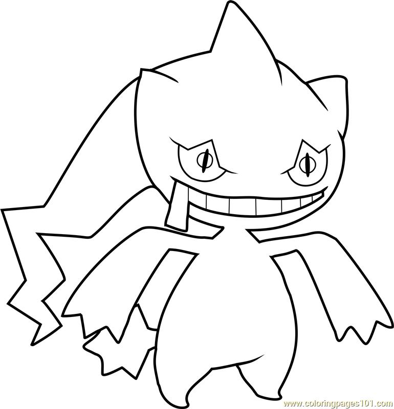 Bate Pokemon Coloring Page Free Pok mon Coloring