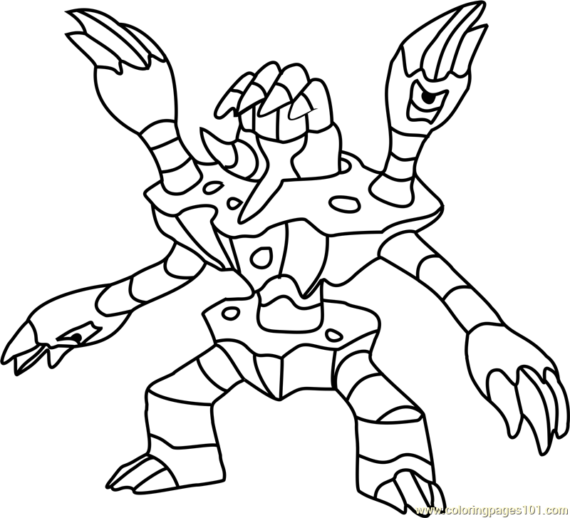 Barbaracle Pokemon Coloring Page