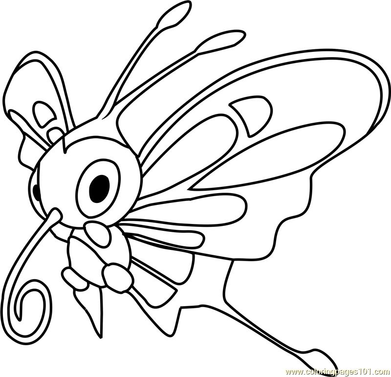 Beautifly Pokemon Coloring Page