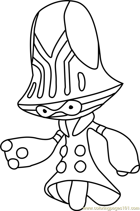 Beheeyem Pokemon Coloring Page Free Pok 233 Mon Coloring