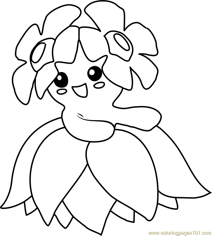 Bellossom Pokemon Coloring Page Free Pok mon Coloring