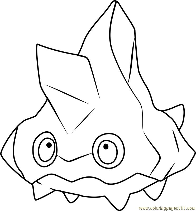 Bergmite Pokemon Coloring Page