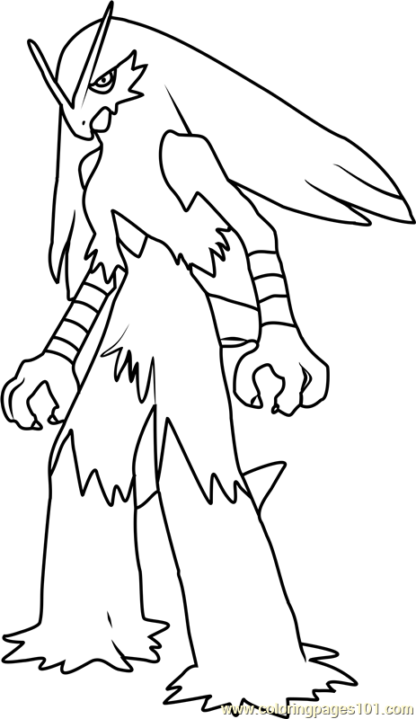 coloring pages blaziken - photo#6
