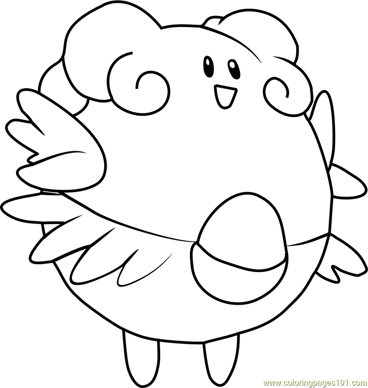 Blissey Pokemon Coloring Page