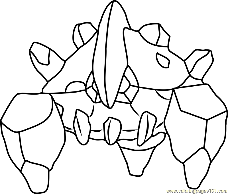 Boldore Pokemon Coloring Page
