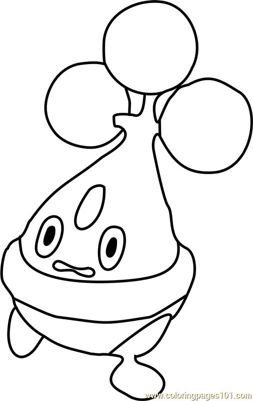 Bonsly Pokemon Coloring Page