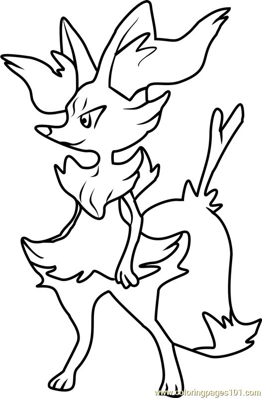 Braixen Pokemon Coloring Page
