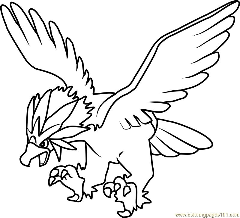 Braviary Pokemon Coloring Page