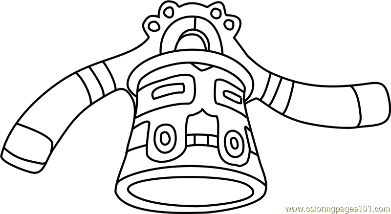 Bronzong Pokemon Coloring Page