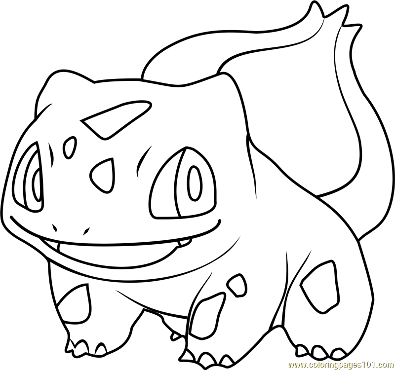 Bulbasaur Pokemon Coloring Page - Free Pokémon Coloring ...