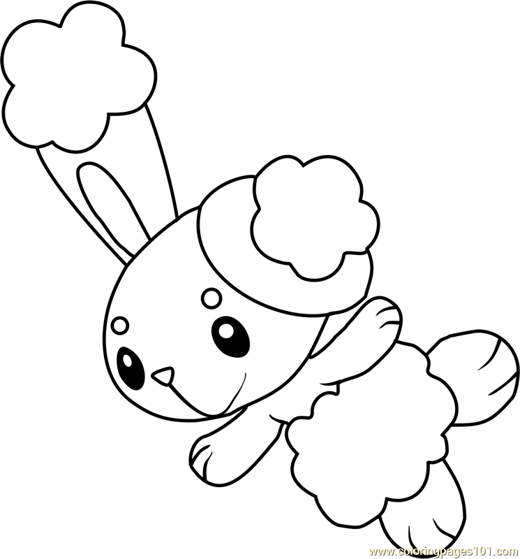 Pokemon Coloring Pages Braviary. Buneary Pokemon coloring page Pok mon Coloring Pages