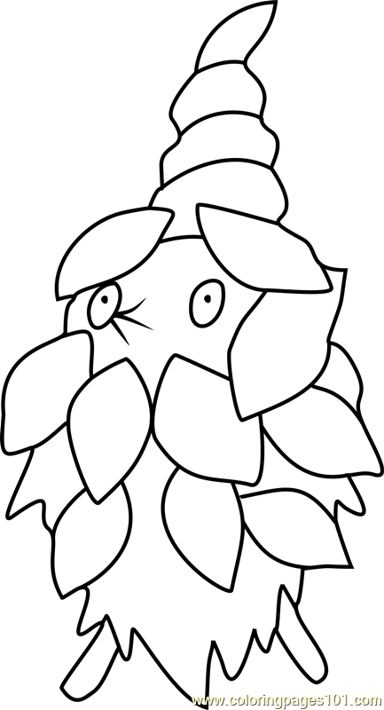 Burmy Pokemon Coloring Page
