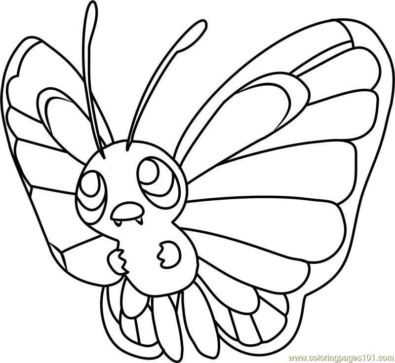 pokemon butter free coloring pages - photo#13