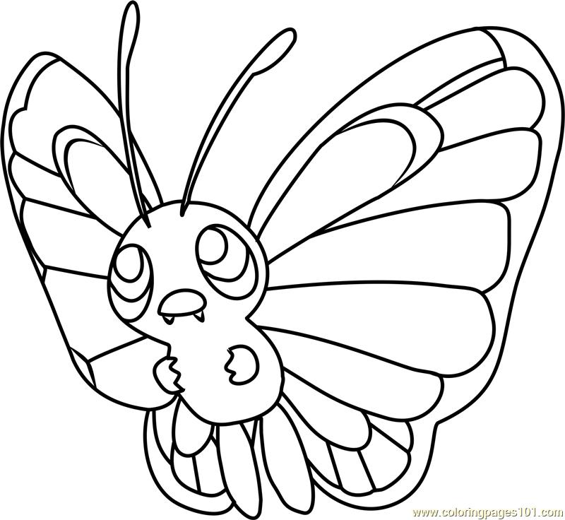 Butterfree Pokemon Coloring Page - Free Pokémon Coloring ...