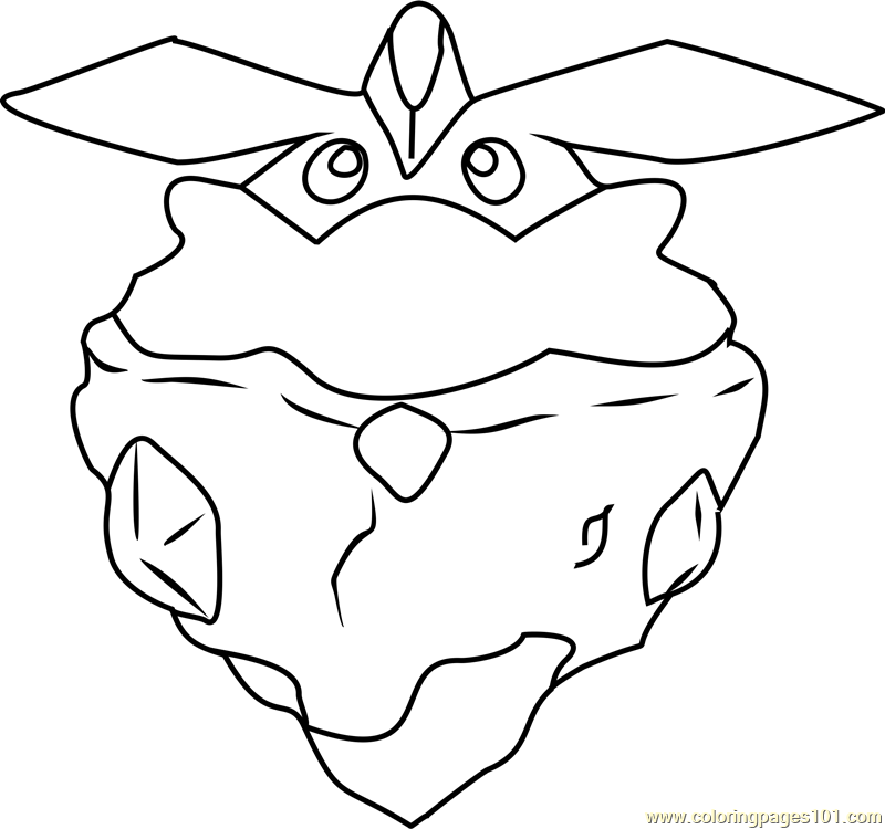 Carbink Pokemon Coloring Page Free Pok233mon