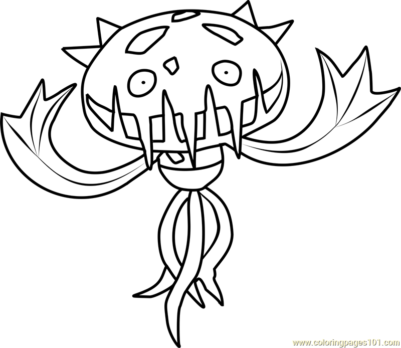 Carnivine Pokemon Coloring Page