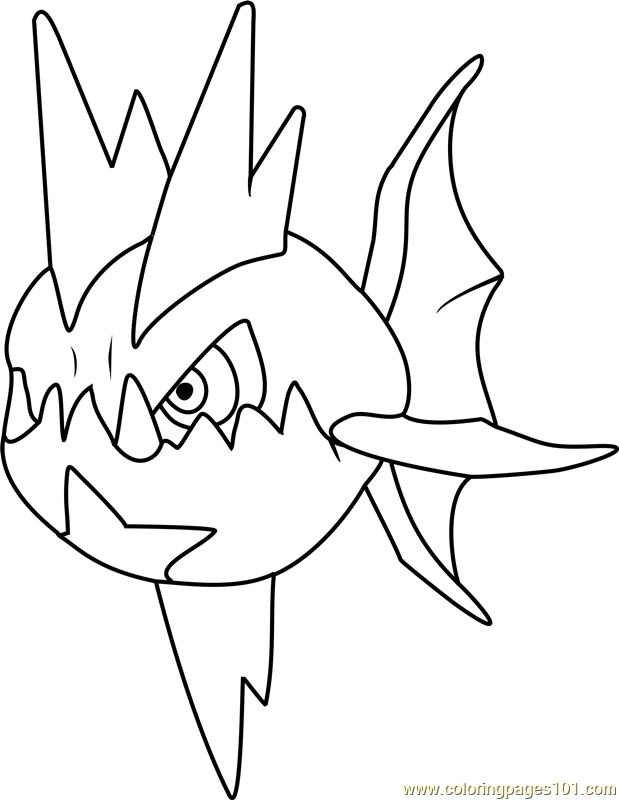 Carvanha Pokemon Coloring Page Free Pok 233 Mon Coloring