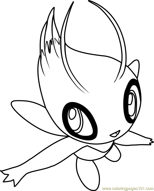 pokemon celebi coloring pages - photo#7