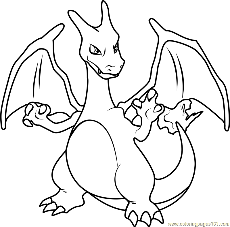 Charizard pokemon coloring page