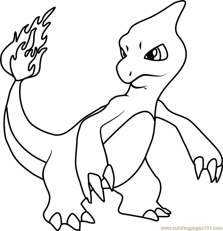 charmeleon pokemon coloring page