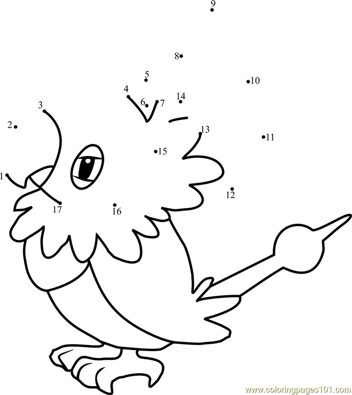 Chatot Pokemon Coloring Page