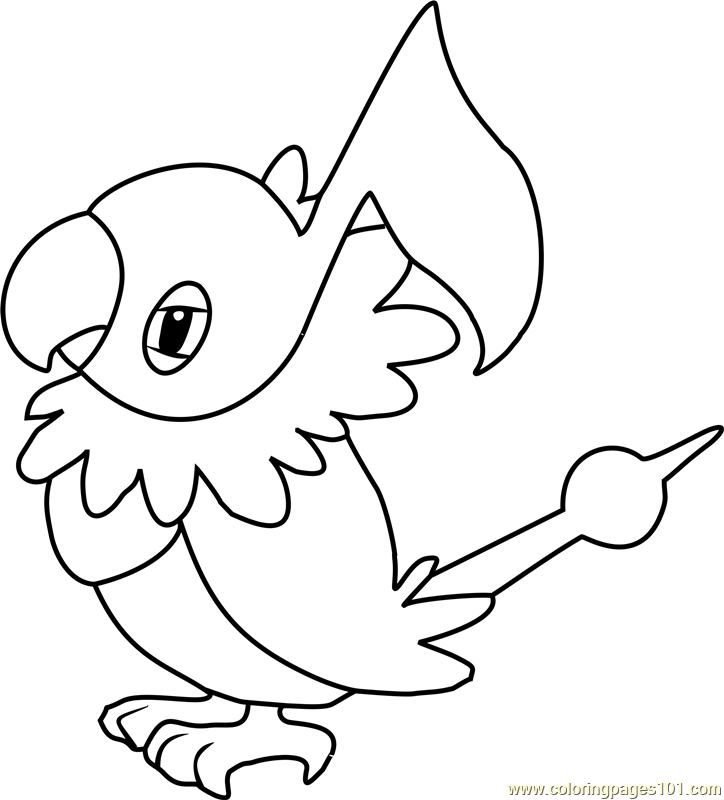 Chatot Pokemon Coloring Page