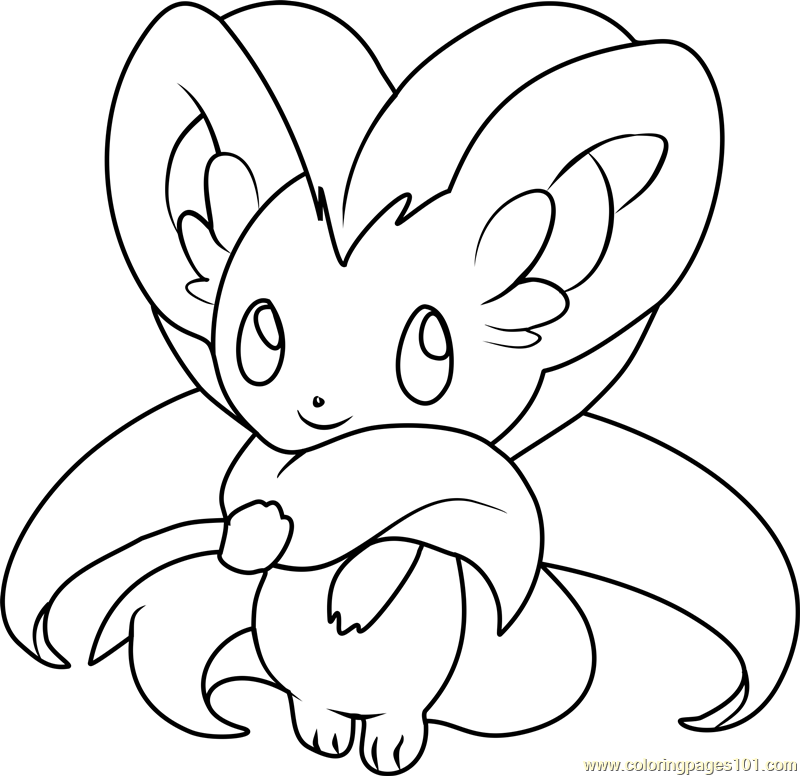 Cinccino Pokemon Coloring Page Free Pok 233 Mon Coloring