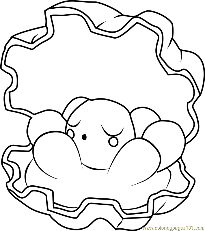Clamperl Pokemon Coloring Page