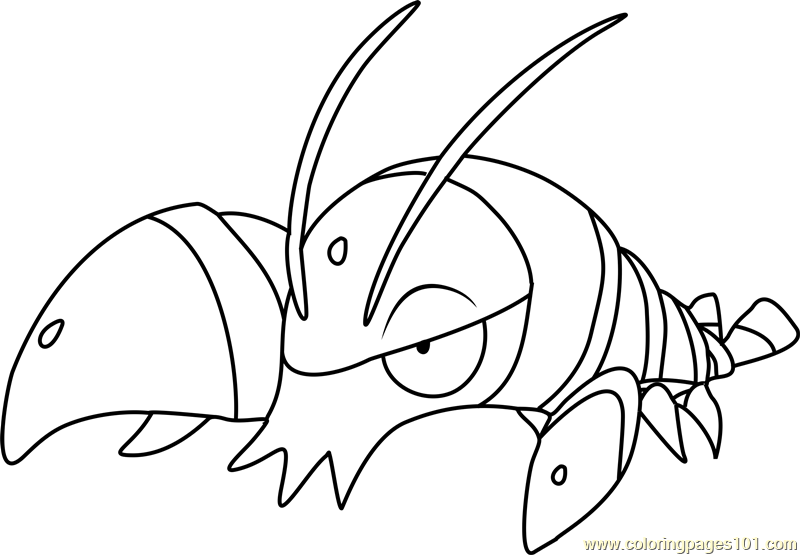 Clauncher Pokemon Coloring Page