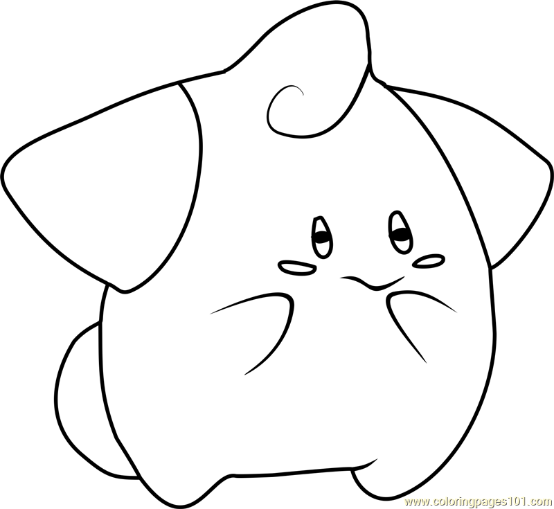 Cleffa Pokemon Coloring Page Free Pok 233 Mon Coloring Pages