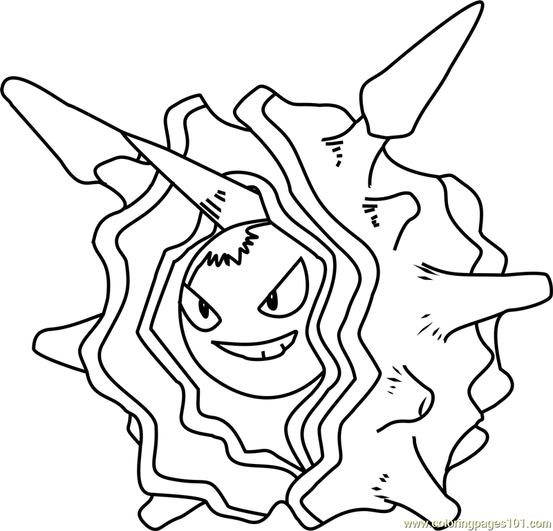 Cloyster Pokemon Coloring Page