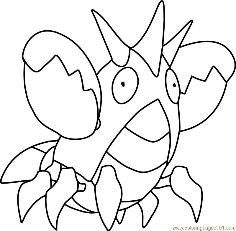 pokemon corphish coloring pages - photo#1
