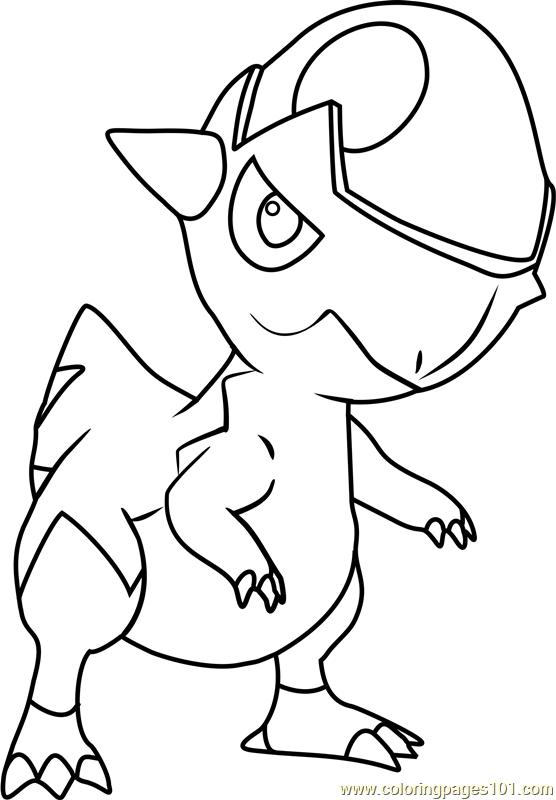 Cranidos Pokemon Coloring Page - Free Pokémon Coloring ...