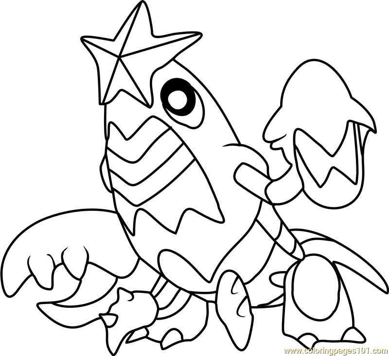 Crawdaunt Pokemon Coloring Page Free Pok 233 Mon Coloring