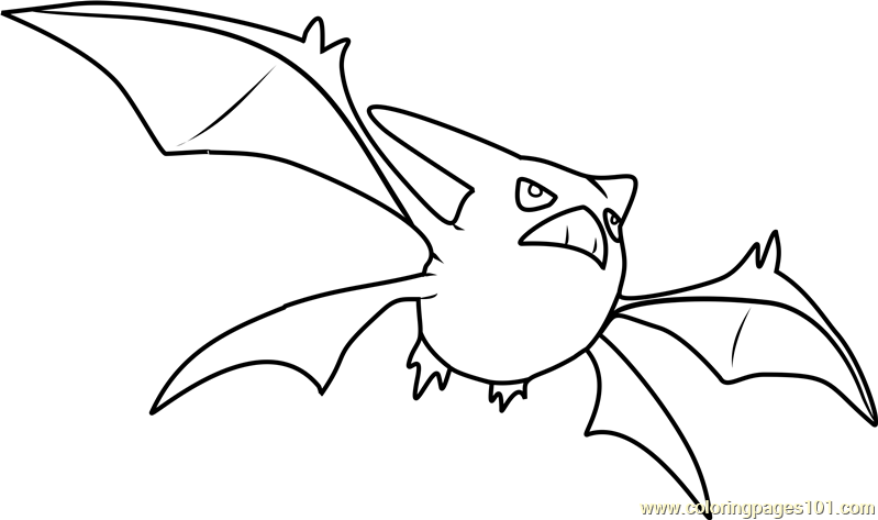 crobat pokemon coloring page