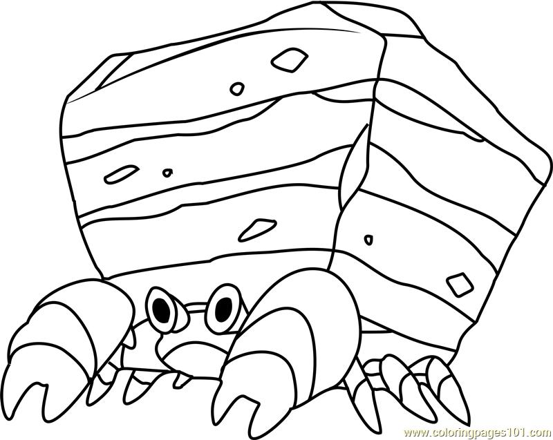 Crustle Pokemon Coloring Page