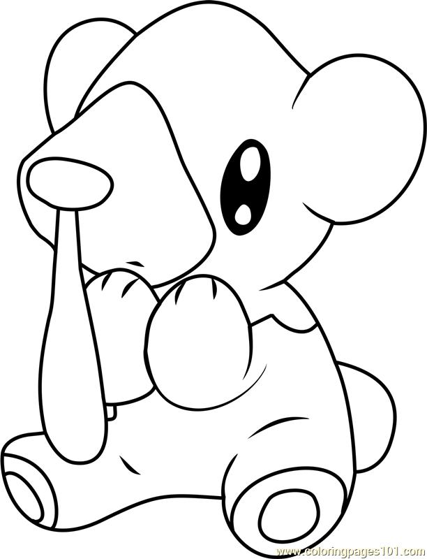 Cubchoo Pokemon Coloring Page Free Pok 233 Mon Coloring