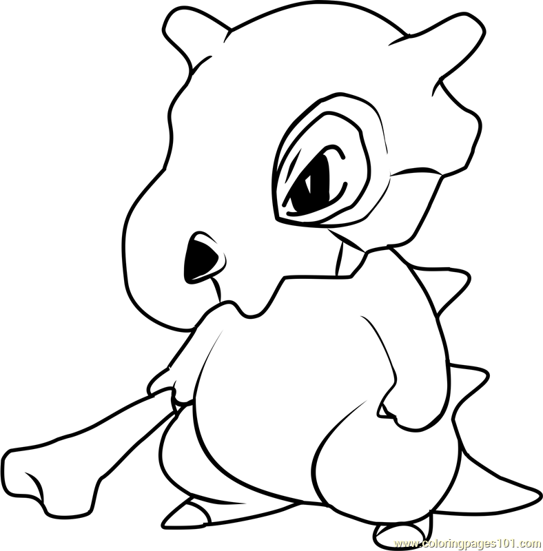 Cubone Pokemon Coloring Page