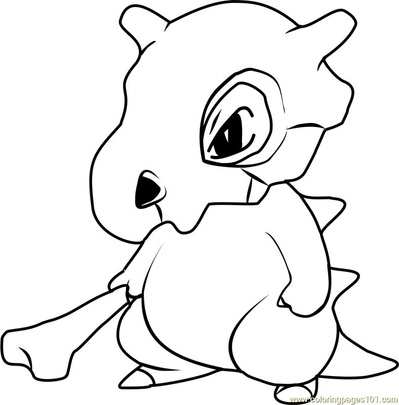 Cubone Pokemon Coloring Page Free Pokemon Coloring Pages Coloringpages101 Com