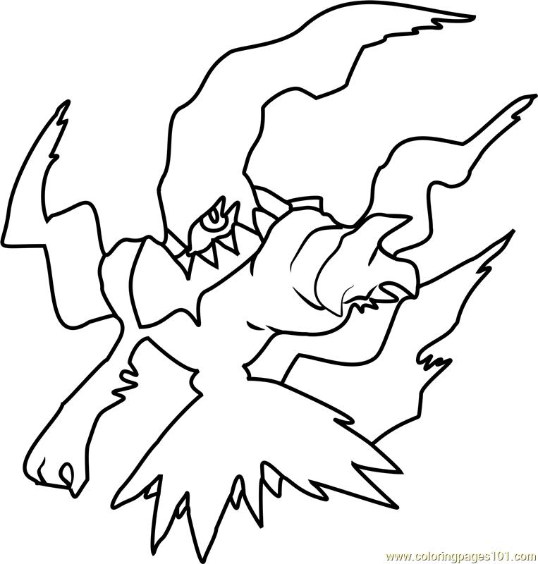 Acro Kleurplaten Darkrai Pokemon Coloring Page Free Pok 233 Mon Coloring