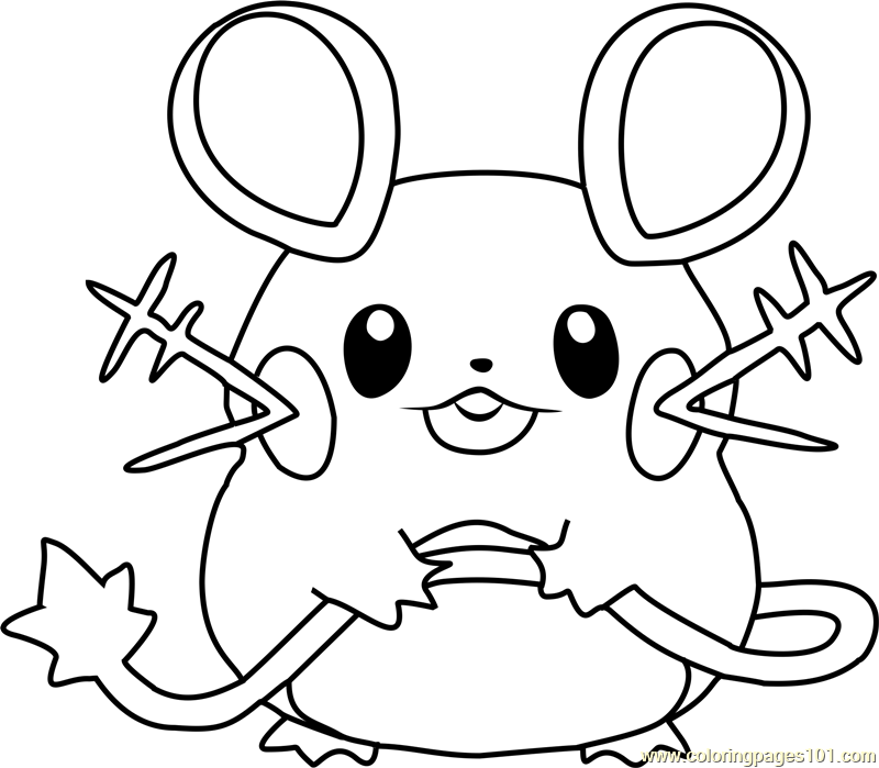Dedenne Pokemon Coloring Page Free Pokmon Coloring Pages