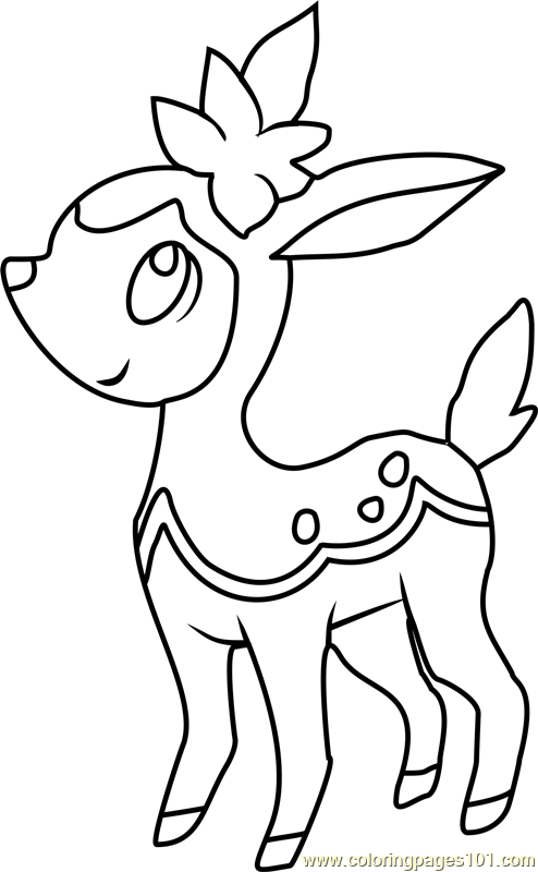Deerling Pokemon Coloring Page Free Pok 233 Mon Coloring