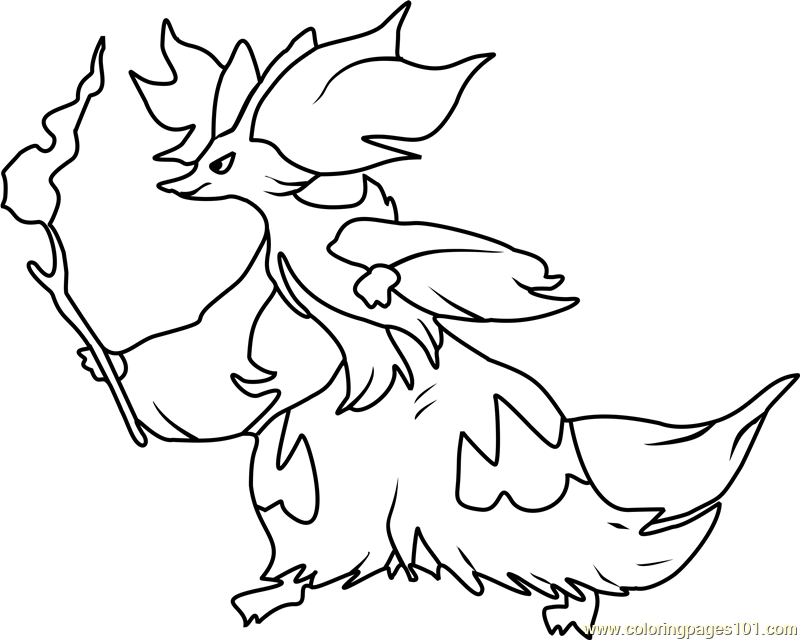 Delphox Pokemon Coloring Page