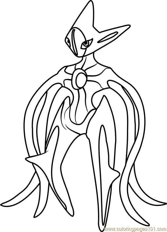 deoxys pokemon coloring page